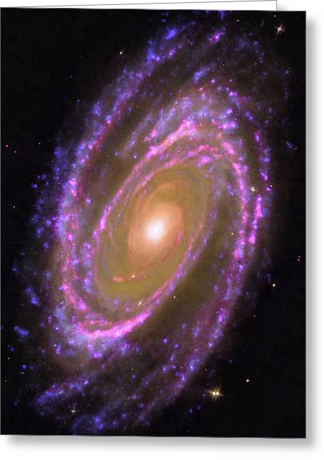 Space Image Messier 81 Spiral Galaxy Greeting Card by Matthias Hauser