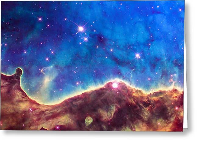 Space Image Nebula Panorama Greeting Card by Matthias Hauser