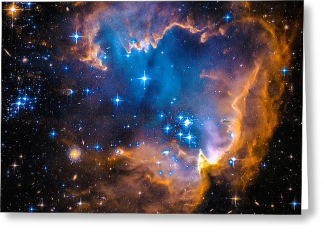 Space Image - New Stars And Nebula Greeting Card by Matthias Hauser