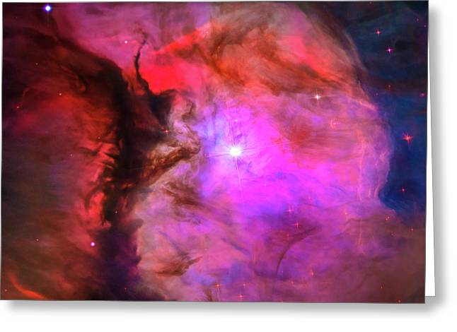 Space Image Orion In Miniature Greeting Card by Matthias Hauser