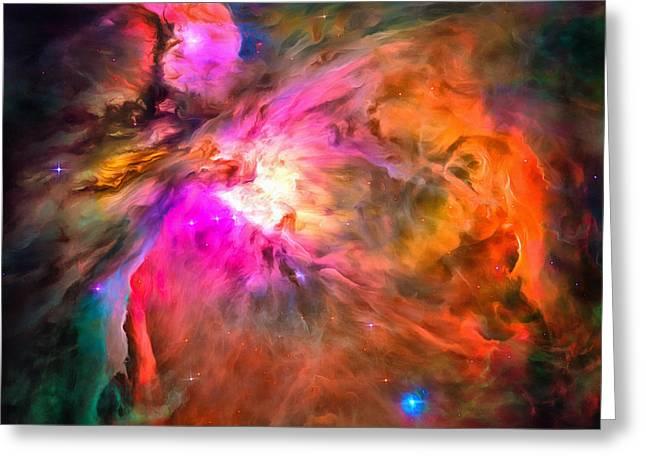 Space Image Orion Nebula Greeting Card by Matthias Hauser