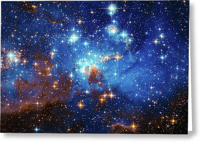 Space Image Stars In The Large Magellanic Cloud Greeting Card by Matthias Hauser