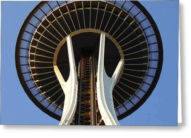Space Needle Framed Prints Greeting Cards - Space Needle Seattle - City Photo Greeting Card by Peter Fine Art Gallery  - Paintings Photos Digital Art
