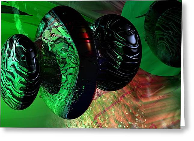 Science Fiction Art Greeting Cards - Space Reflections Greeting Card by David Lane