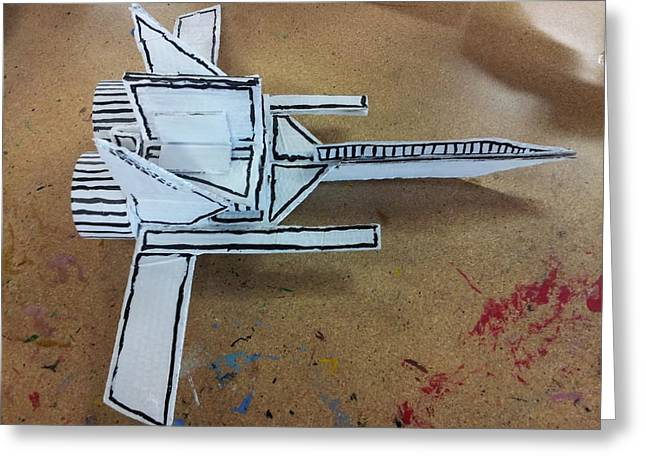 Science Sculptures Greeting Cards - Space ship 2 Greeting Card by William Douglas