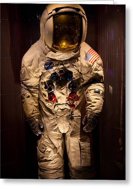 Office Space Photographs Greeting Cards - Space Suit Greeting Card by Mark Weaver
