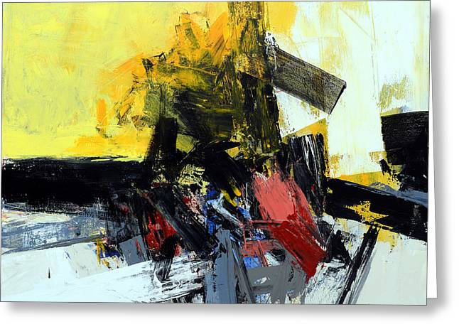 Abstract Expressionist Greeting Cards - Space Time Continuum Greeting Card by James Hudek