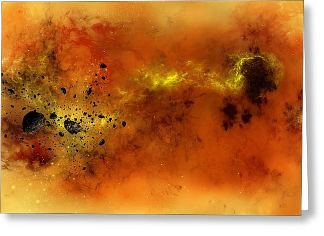 Space012 Greeting Card by Svetlana Sewell