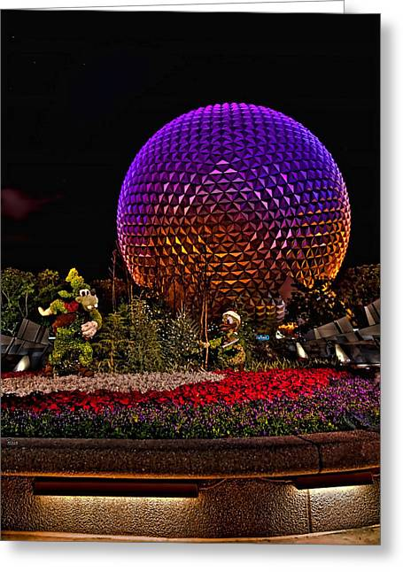 World Showcase Greeting Cards - Spaceship Earth HDR Greeting Card by Jason Blalock