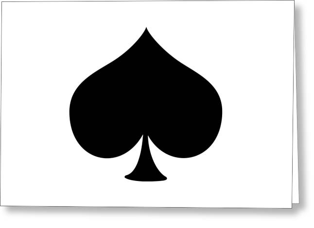 Caves Greeting Cards - Spades - Deck of Cards Greeting Card by Custom Home Fashions