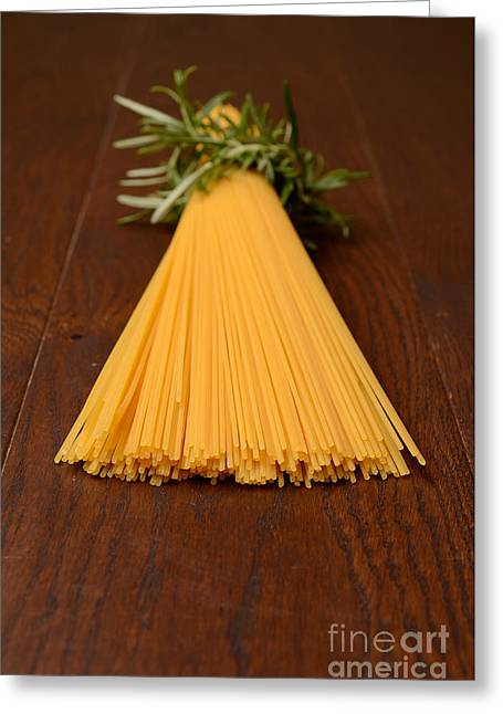 Spaghetti Noodles Greeting Cards - Spaghetti Greeting Card by Andreas Berheide
