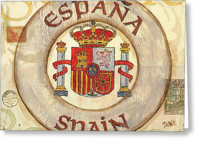 Antique City Greeting Cards - Spain Coat of Arms Greeting Card by Debbie DeWitt