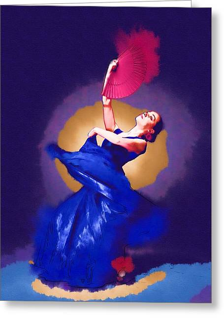 Game Greeting Cards - Spain Dance Greeting Card by Michael Vicin