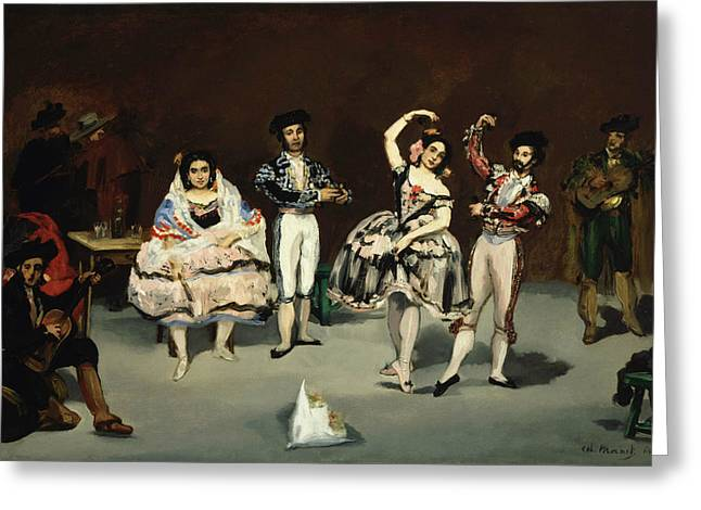 Spanish Dancer Greeting Cards - Spanish Ballet Greeting Card by Edouard Manet