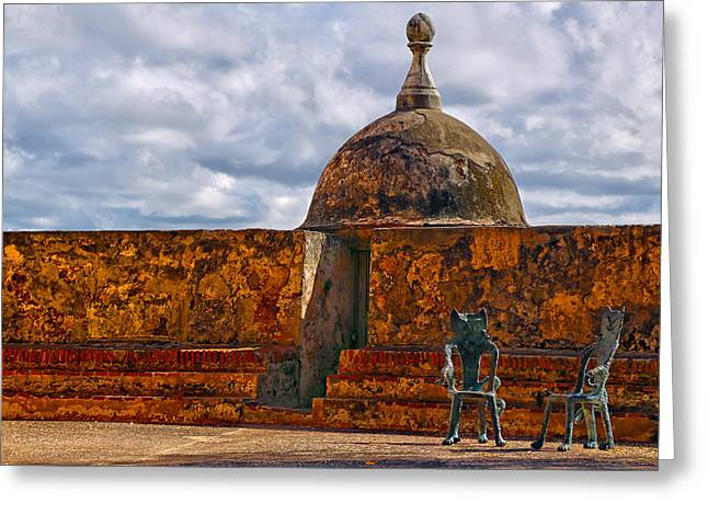 Dominate Greeting Cards - Spanish Colonial Architecture Greeting Card by Mitch Cat