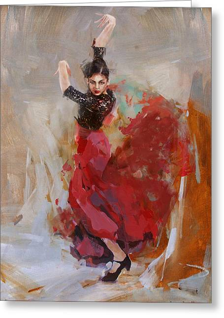 Spanish Beauties Greeting Cards - Spanish Cultlure 37 Greeting Card by Corporate Art Task Force