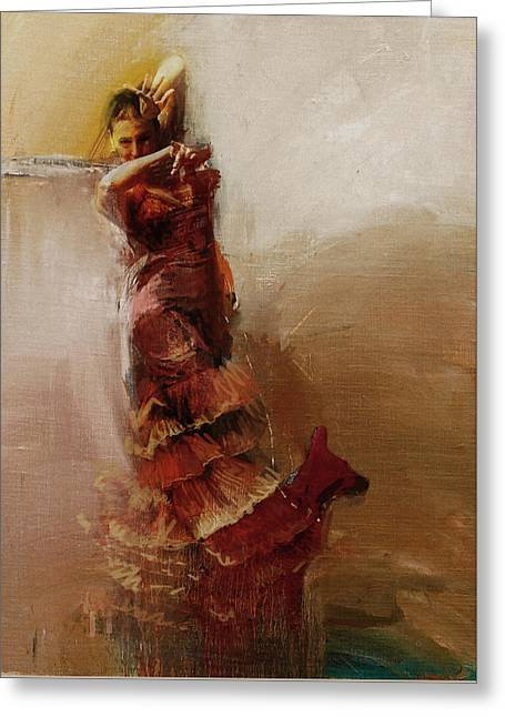 Spanish Beauties Greeting Cards - Spanish Culture 1 Greeting Card by Corporate Art Task Force