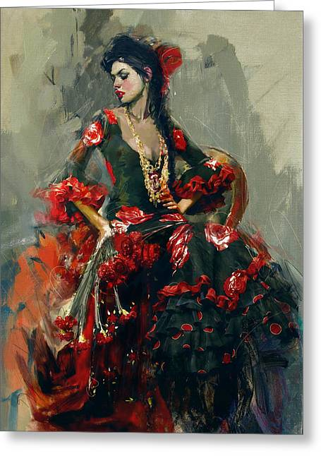 Spanish Beauties Greeting Cards - Spanish Culture 16 Greeting Card by Corporate Art Task Force