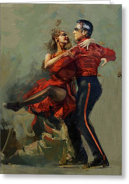 Duet Greeting Cards - Spanish Culture 17 Greeting Card by Corporate Art Task Force