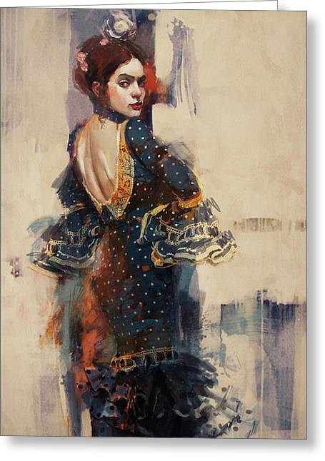 Spanish Beauties Greeting Cards - Spanish Culture 20b Greeting Card by Corporate Art Task Force