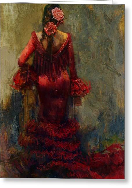 Spanish Beauties Greeting Cards - Spanish Culture 22 Greeting Card by Corporate Art Task Force