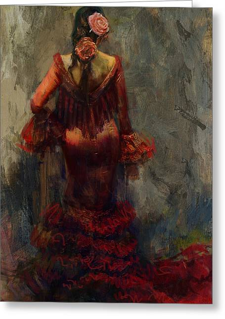 Spanish Beauties Greeting Cards - Spanish Culture 22b  Greeting Card by Corporate Art Task Force
