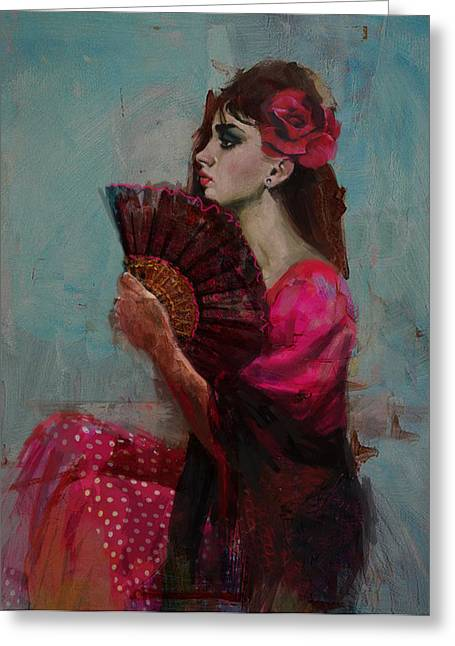 Spanish Beauties Greeting Cards - Spanish Culture 27b Greeting Card by Corporate Art Task Force