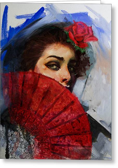 Spanish Beauties Greeting Cards - Spanish Culture 29 Greeting Card by Corporate Art Task Force
