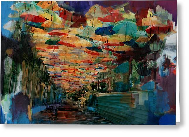 Portugal Paintings Greeting Cards - Spanish Culture 32 Greeting Card by Mahnoor Shah
