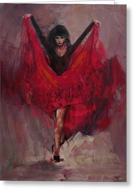 Spanish Dancer Greeting Cards - Spanish Culture 8 Greeting Card by Corporate Art Task Force