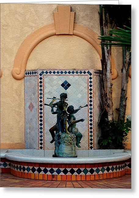 Lyle Huisken Greeting Cards - Spanish Fountain Greeting Card by Lyle  Huisken