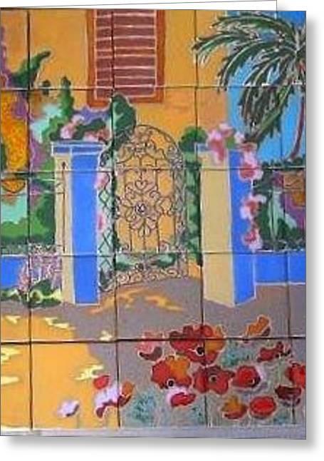 House Ceramics Greeting Cards - Spanish Gate Greeting Card by Yana Yatsyk