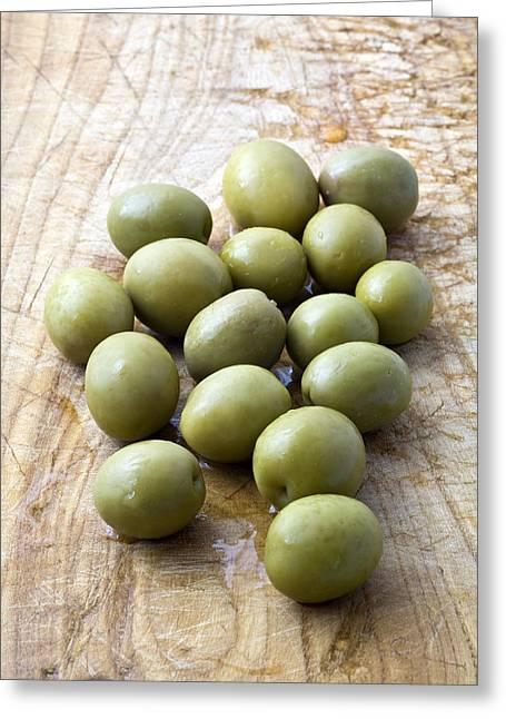 Spanish Manzanilla Olives Greeting Card by Frank Tschakert