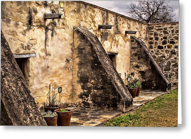 Adobe Architecture Greeting Cards - Spanish Mission Architecture Greeting Card by David and Carol Kelly