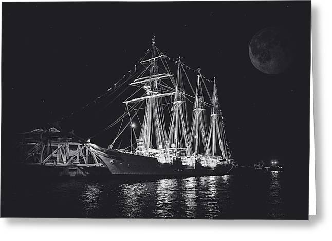 Historic Schooner Greeting Cards - Spanish Navy Schooner Greeting Card by Lucinda  M Wickham