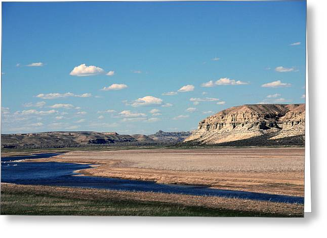 Deep Blue River Greeting Cards - Spanish River Rio Verde Green River Wyoming Greeting Card by Susanne Van Hulst