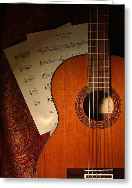 Flamenco Guitar - Spanish Romance / Spanish Guitar Greeting Card by D S Images