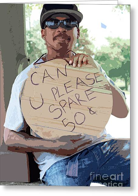 Urban Images Greeting Cards - Spare Change Greeting Card by Joe Jake Pratt