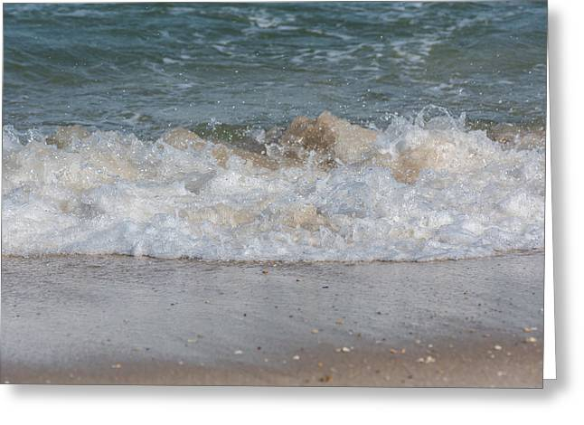 Surfing Photos Greeting Cards - Sparking Ocean Wave Jersey Shore Greeting Card by Terry DeLuco