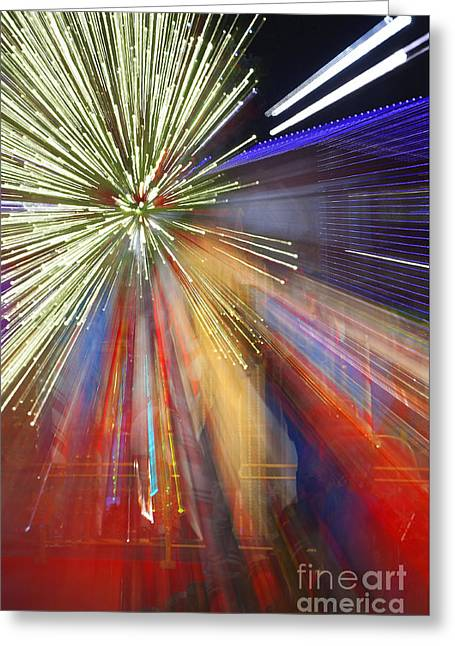 Sparkle Abstract 2 Greeting Card by Greg Kopriva