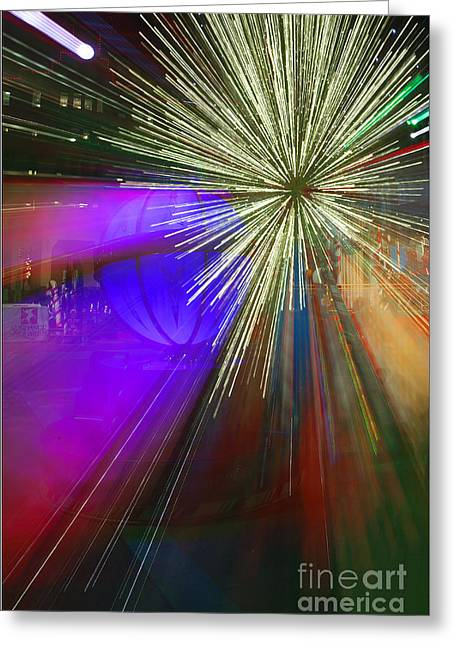 Sparkle Abstract 3 Greeting Card by Greg Kopriva