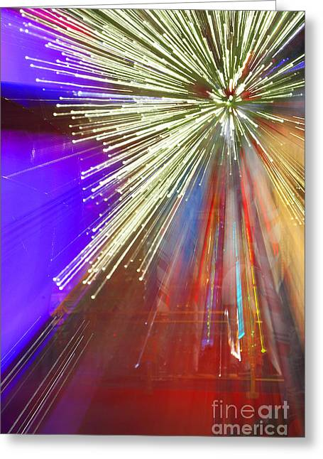 Sparkle Abstract 6 Greeting Card by Greg Kopriva