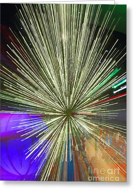 Sparkle Abstract 7 Greeting Card by Greg Kopriva
