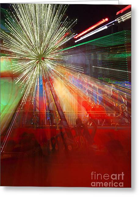 Sparkle Abstract 8 Greeting Card by Greg Kopriva