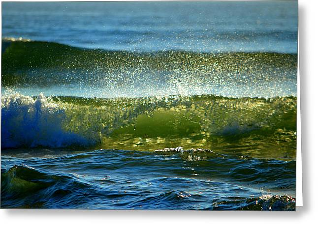 New England Ocean Greeting Cards - Sparkles in Blue Greeting Card by Dianne Cowen