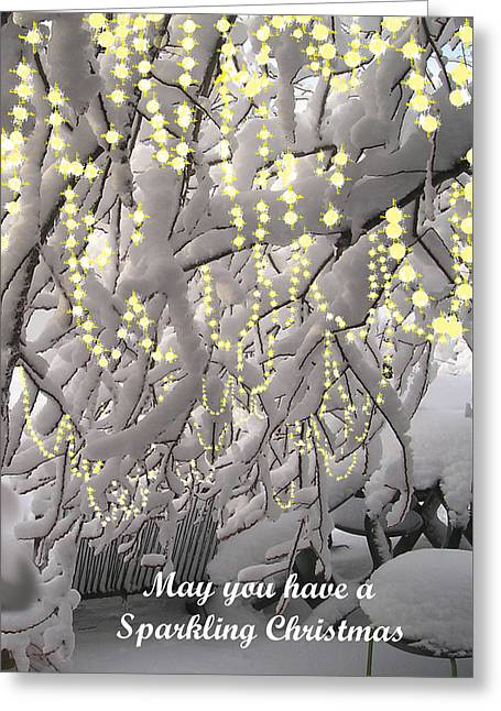Christmas Greeting Greeting Cards - Sparkling Christmas Card Greeting Card by Roger Swezey