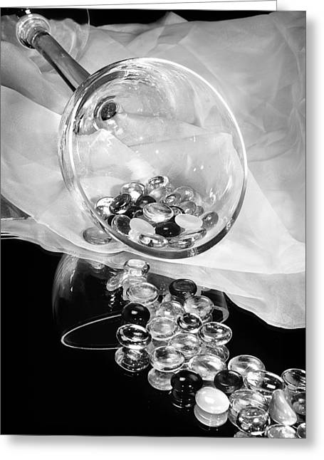 Glass Beads Greeting Cards - Sparkling Gems Greeting Card by Camille Lopez
