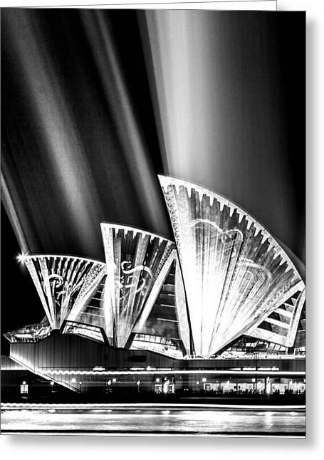 Famous Photographers Greeting Cards - Sparkling Blades BW Greeting Card by Az Jackson