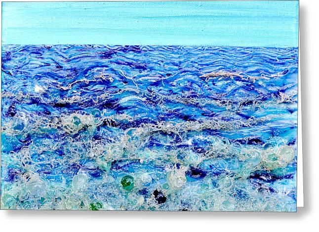 3-d Glasses Greeting Cards - Sparkling Sea Greeting Card by Regina Valluzzi