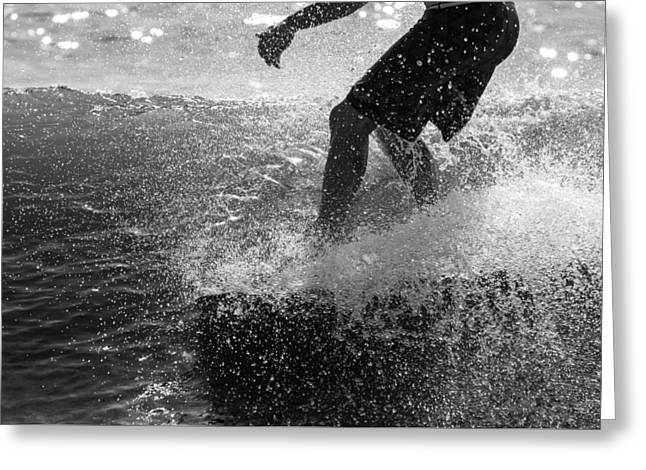 Surfing Photos Greeting Cards - Sparkling Soul Greeting Card by AM Photography